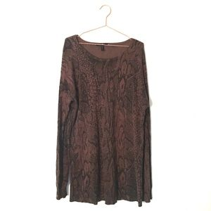 3 for $25 BCBGmaxazria Sweater Black Brown L h3